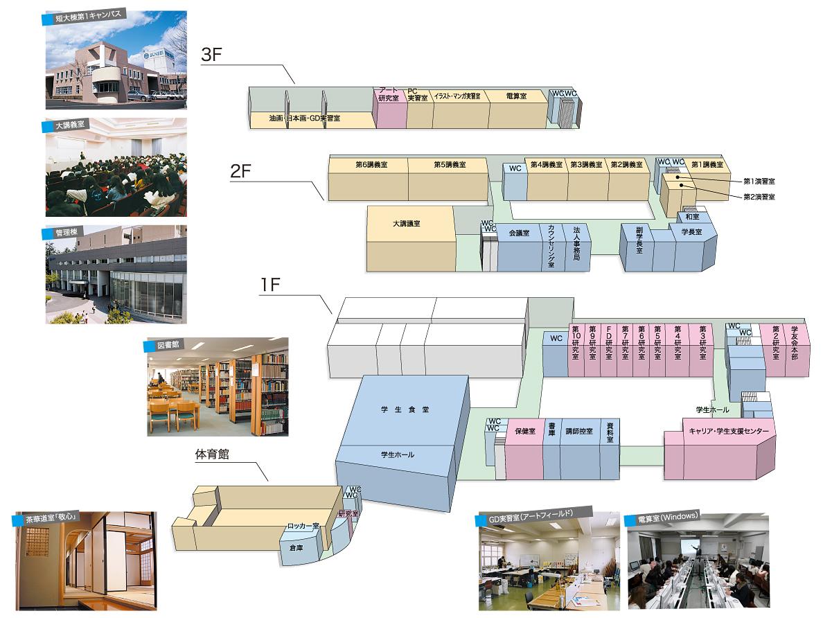 第1キャンパス施設マップ
